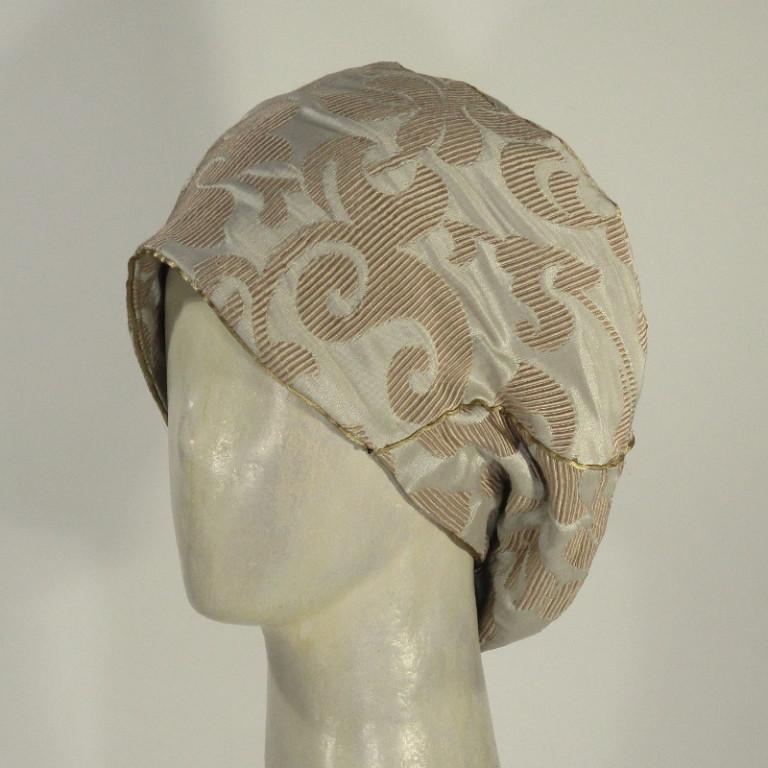 Kopfbedeckung - Cloquebarett - graubeige