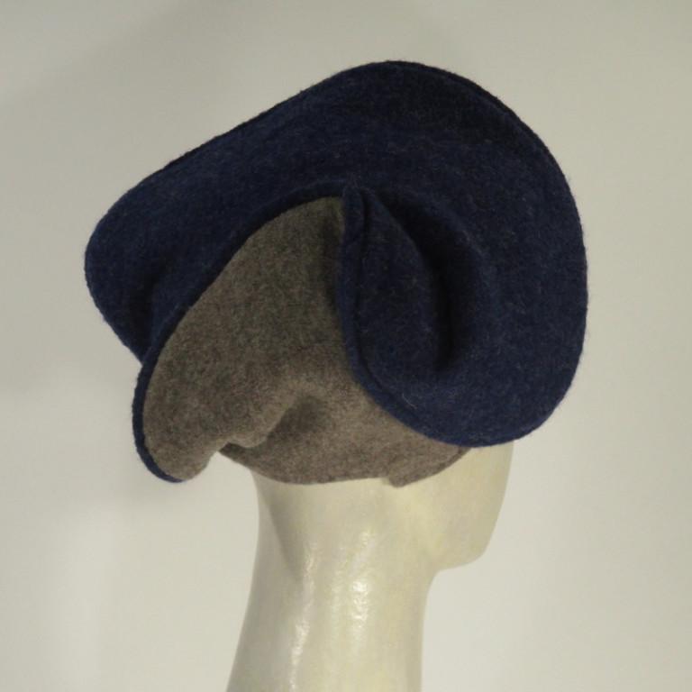 Kopfbedeckung - Barrett in graublau