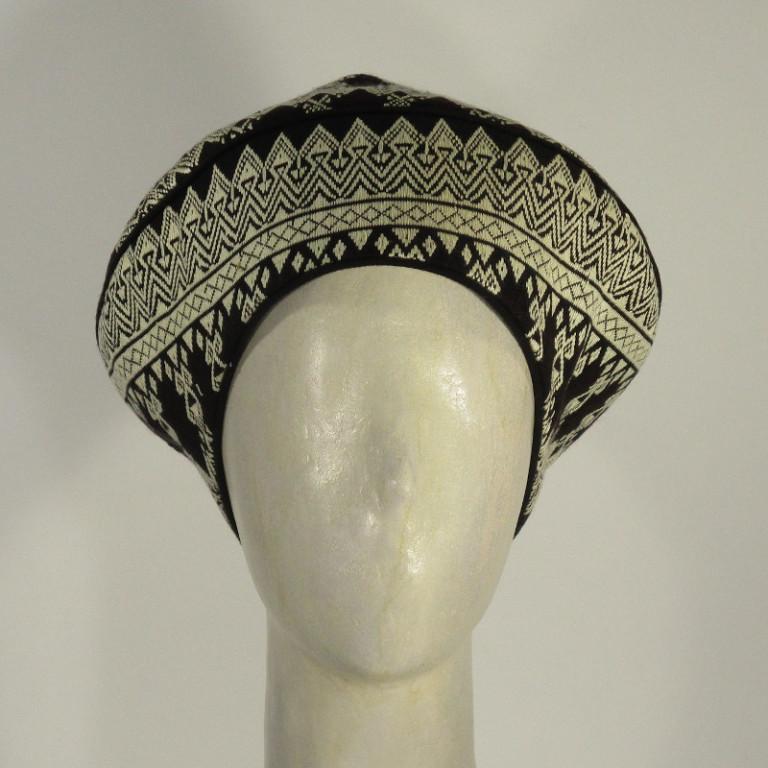 Kopfbedeckung - klassischer schicker Hut - schwarz weiß