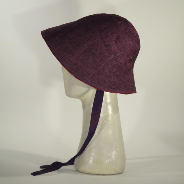 Kopfbedeckung - Sonnenhut - Ananasfaser violett