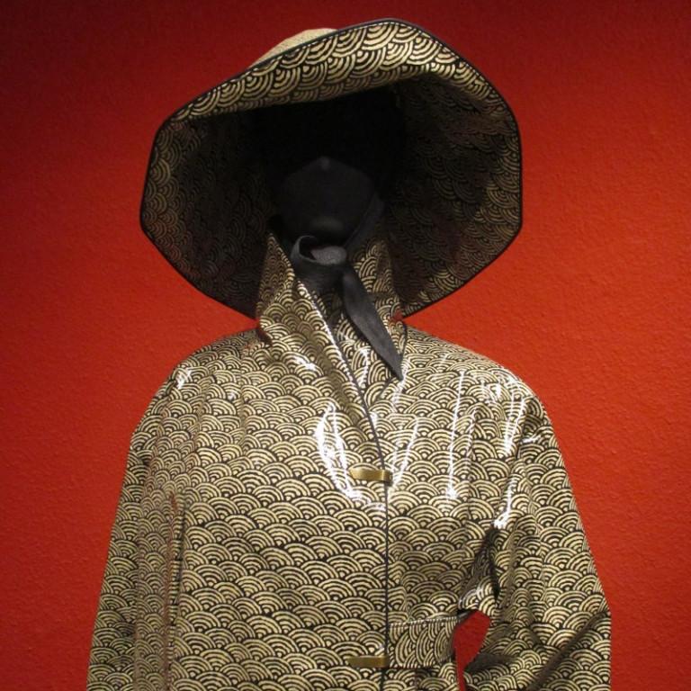 Regenbekleidung - Regenmantel und Regenhut - graublau