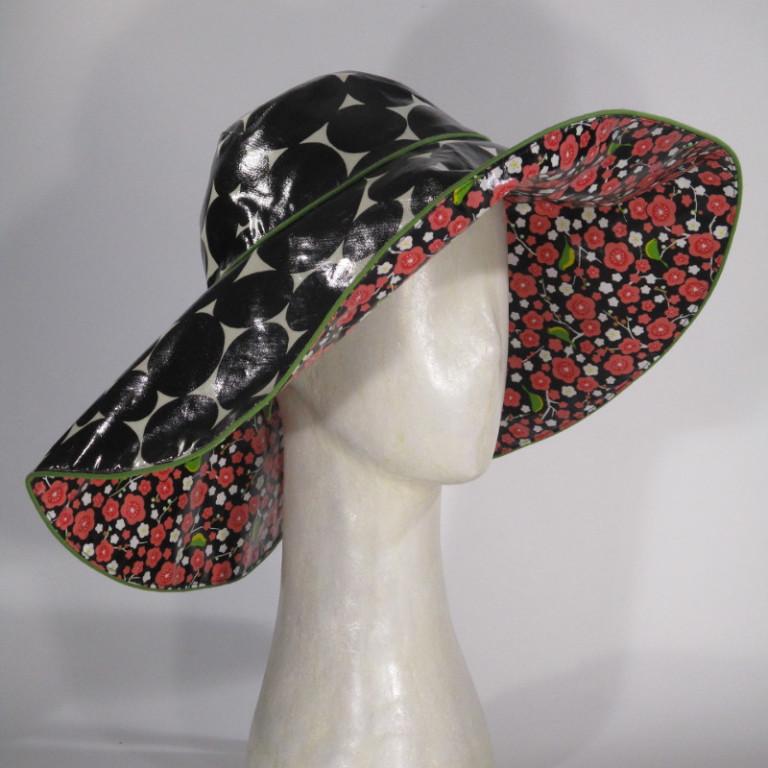 Kopfbedeckung - Boleroform Regenhut - Vögel