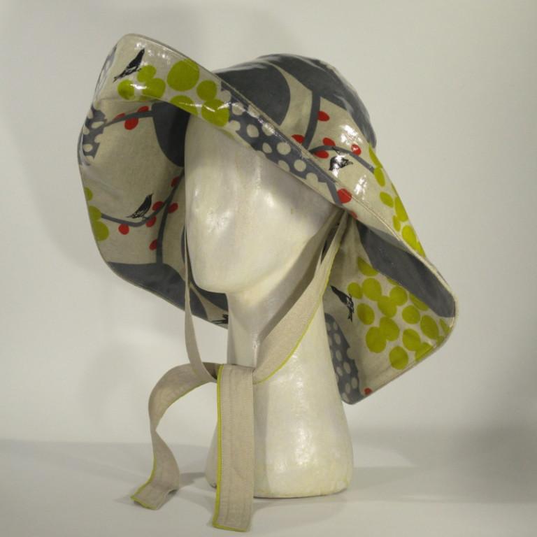 Kopfbedeckung - Regenhut Glocke - Vögel