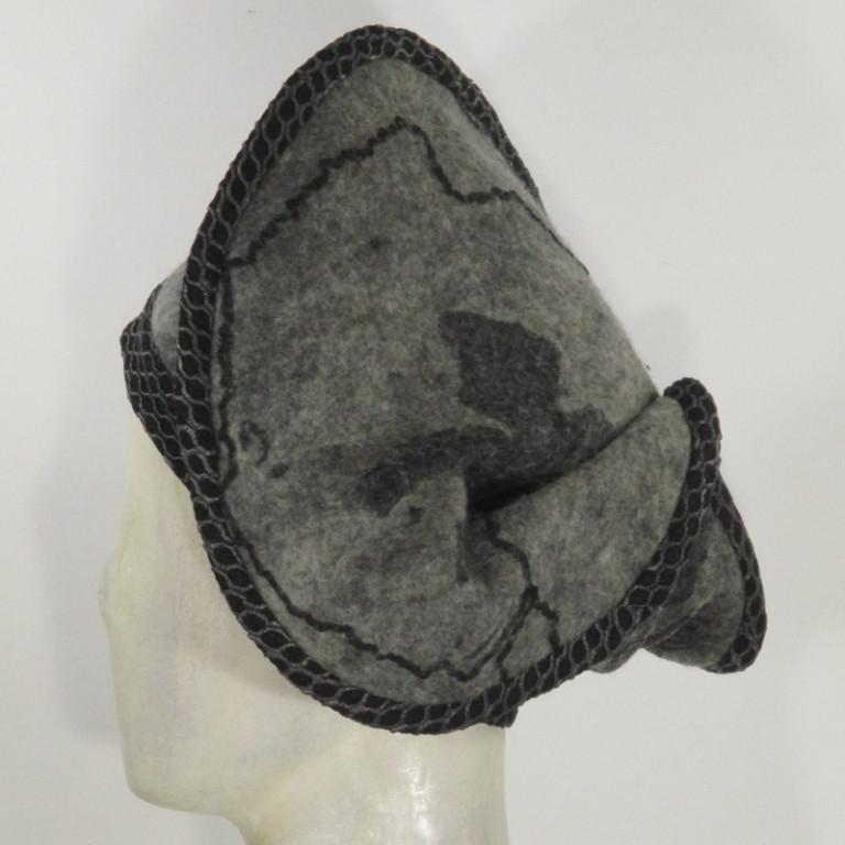 Kopfbedeckung - warm Wolle mit Seide Barett