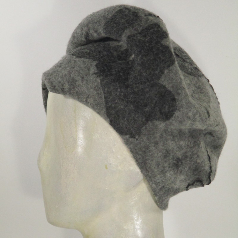Kopfbedeckung - warm Wolle mit Seide