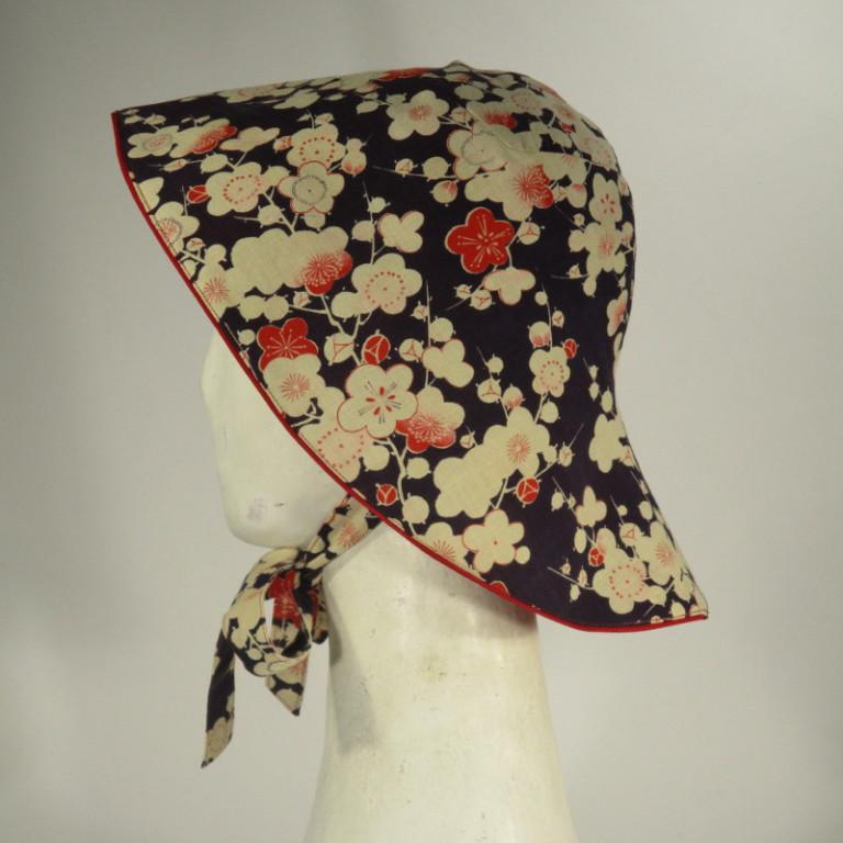 Kopfbedeckung - Sonnenhut - japanisch Blüten