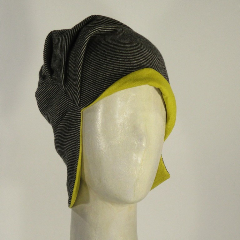 Kopfbedeckung - Chemotherapie - feine Streifen