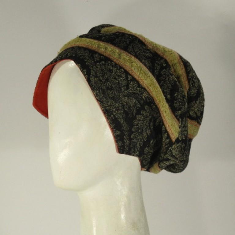 Kopfbedeckung - Barett - historisch Kaschmir