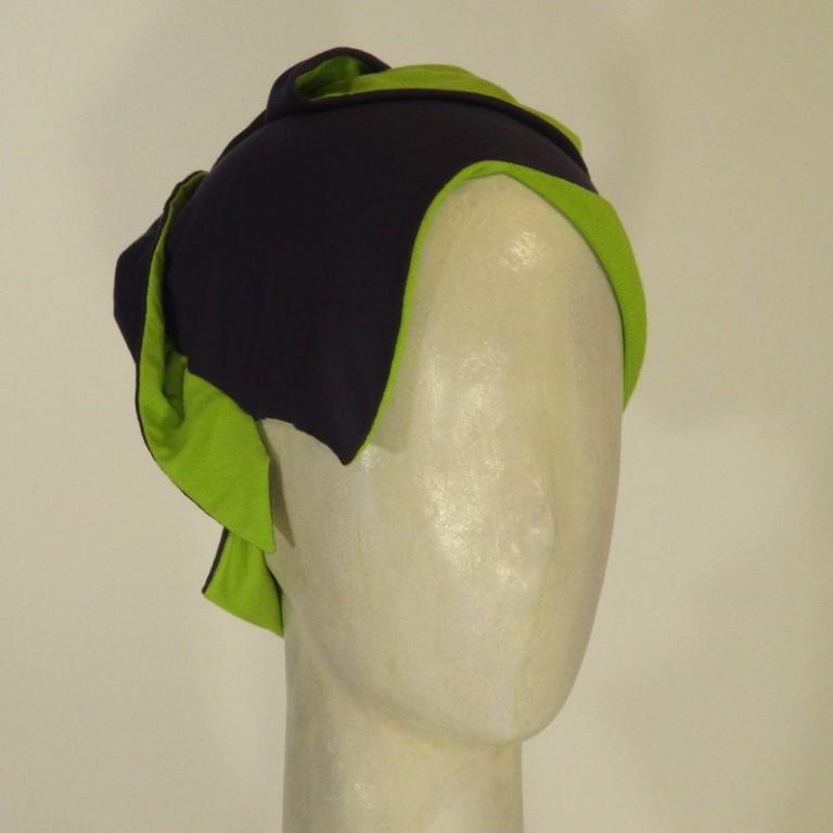 Chemotherapie Kopfbedeckung - schick violett/grün