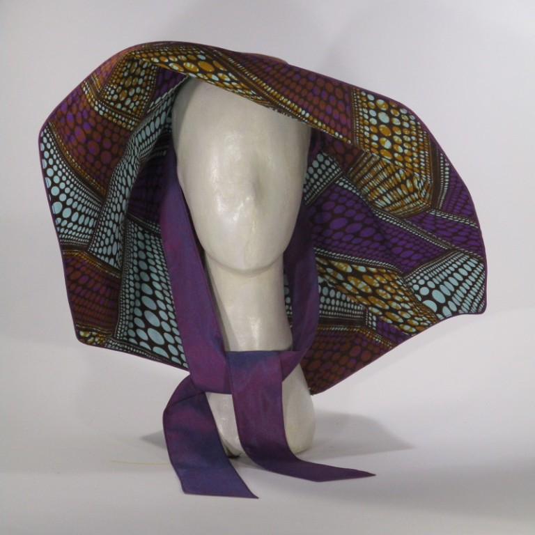 Kopfbedeckung - eleganter Sonnenhut - Muster bunt