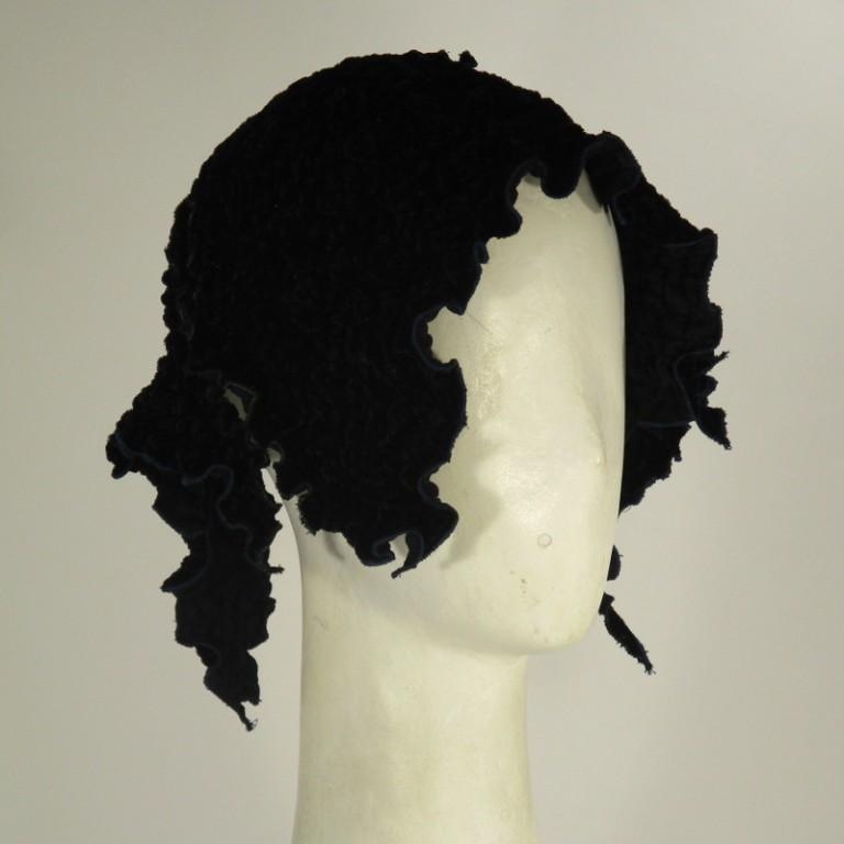 Kopfbedeckung - Eleganz - schwarz samt