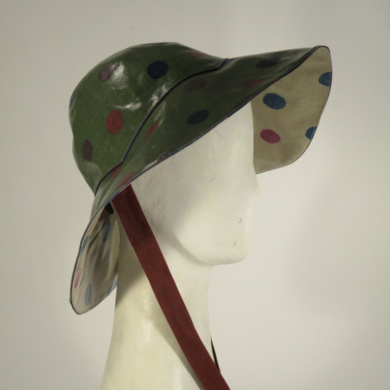 Kopfbedeckung - Regenhut - Seafoam Tupfen
