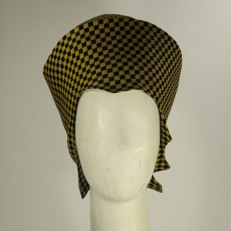 Kopfbedeckung - Toque - Eleganz schwarz gelb