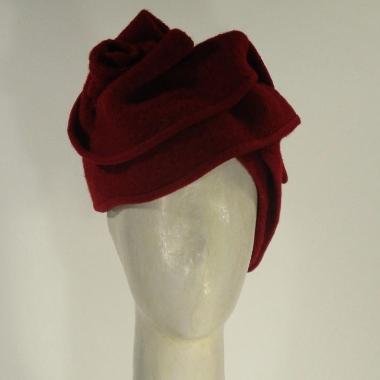 Kopfbedeckung - Hut warm rot