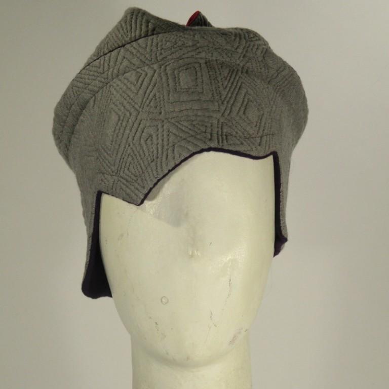 Kopfbedeckung - Chemotherapie - Viscosehelm hellgrau