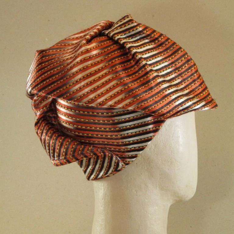 Kopfbedeckung - Alopecia Chloche, rotorange, afrikan