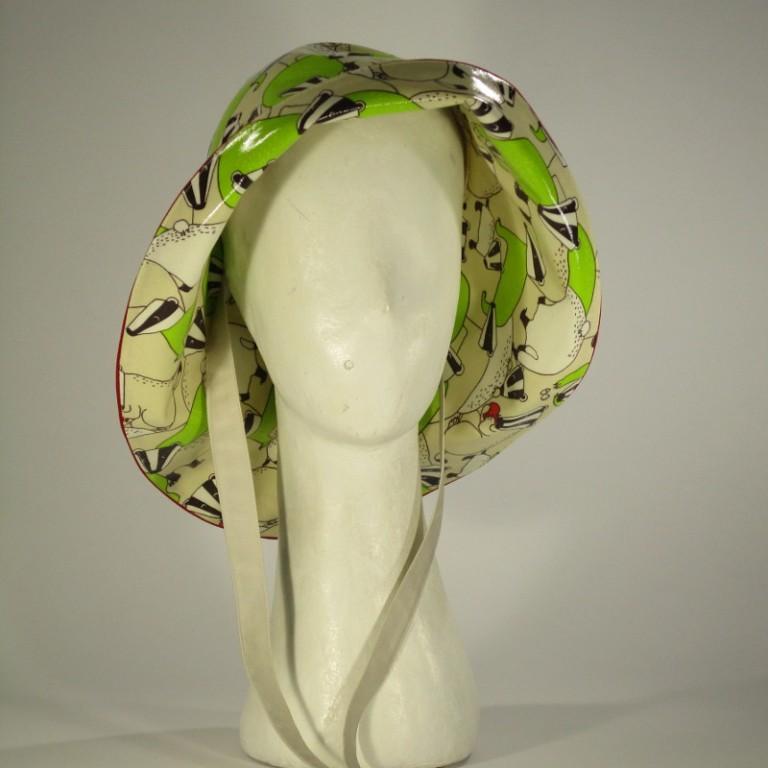 Kopfbedeckung - Regenhut - Frösche
