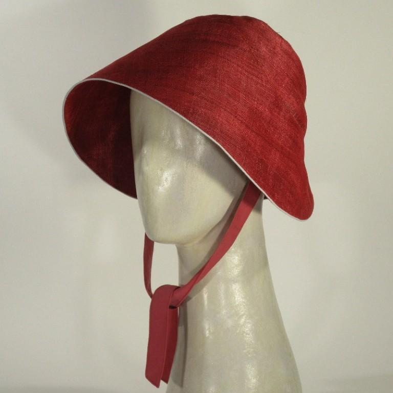 Kopfbedeckung - Sonnenhut - Ananasfaser rot